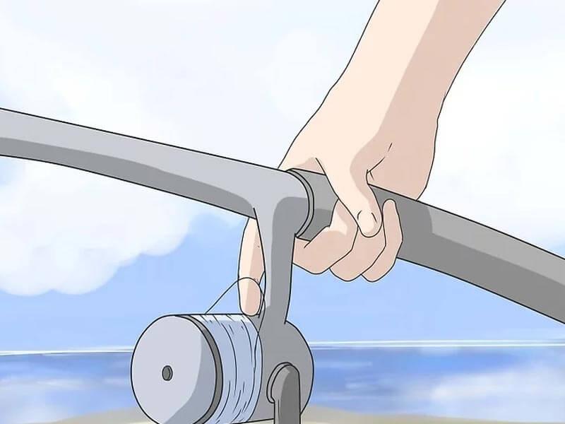 مرحله چهارم پرتاب چوب ماهیگیری اسپینینگ