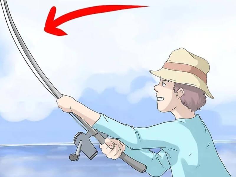 مرحله هفتم پرتاب چوب ماهیگیری اسپینینگ