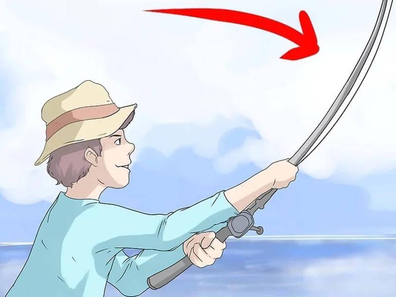 مرحله هشتم پرتاب چوب ماهیگیری بیت کستینگ