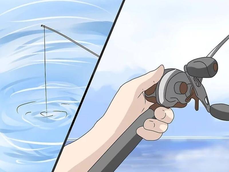 مرحله نهم پرتاب چوب ماهیگیری بیت کستینگ