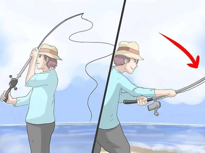 مرحله هفتم چوب ماهیگیری پشه