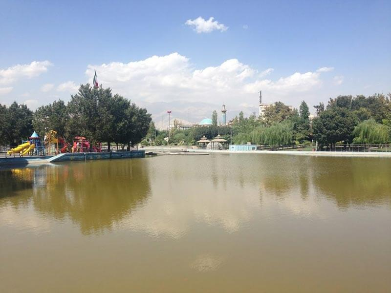 مکان های مناسب ماهیگیری - دریاچه پارک المهدی