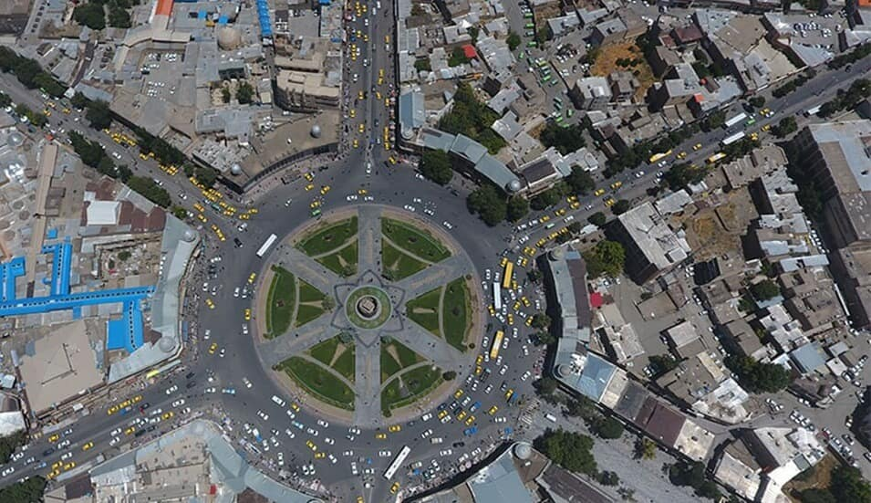 نمای شهر همدان